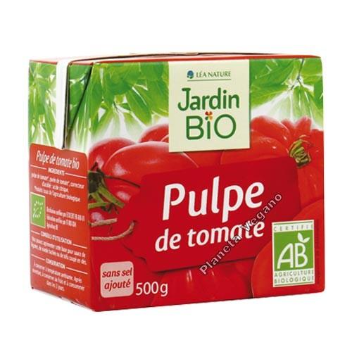 Pulpa de Tomate y Albahaca, 500g. Jardin Bio
