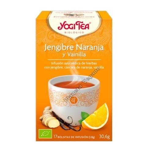 Yogi Tea Jengibre Naranja y Vainilla 30g.