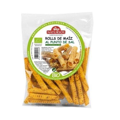 Snack de Maíz al Punto de Sal, 75g. Natursoy