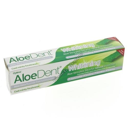 Dentífrico Blanqueador con Aloe Vera, 100g. Aloe Dent