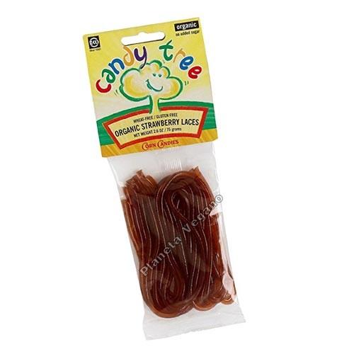 Cordones de Fresa Bio - 75g - Candy Tree