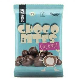 Bolitas de Chocolate Vegano Rellenas de Coco, 50g. V.F.