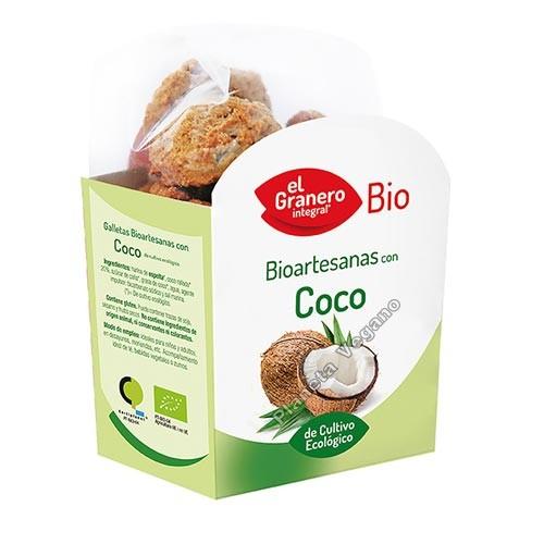 Galletas Bio Artesanas de Coco, 220g. El Granero