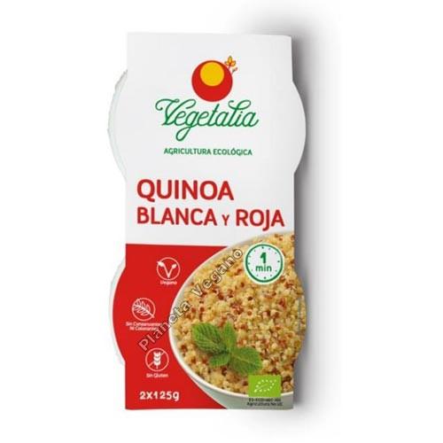 Quinoa Blanca y Roja, 2x125g. Vegetalia