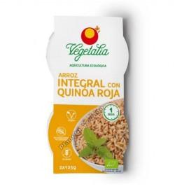 Arroz Integral con Quinoa Roja, 2x125g. Vegetalia