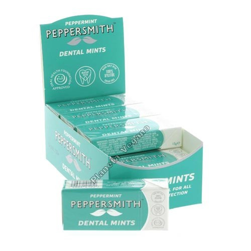 Caramelos de Menta con Xilitol (Mints Peppermint), 15g. Dental Mints