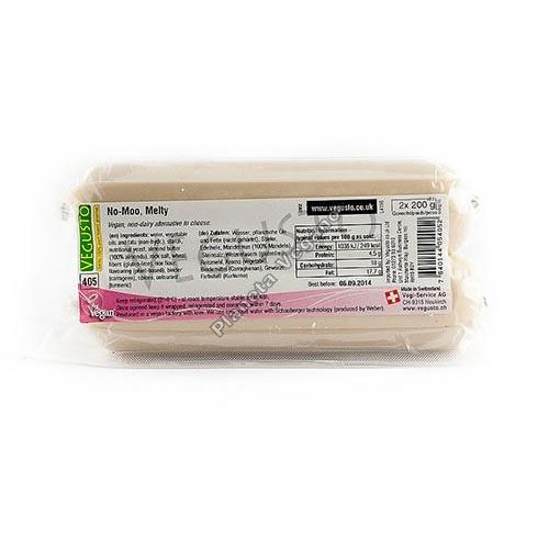 Queso Vegano No-Moo Melty para fundir, 200g x 2 unidades. Vegusto