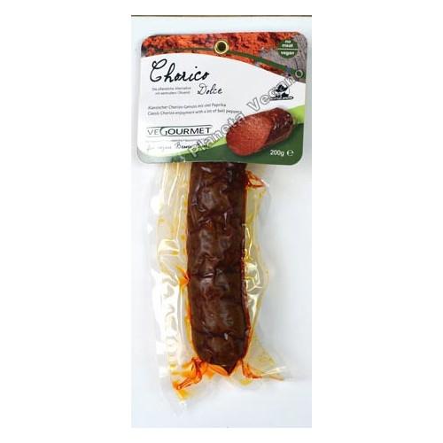 Chorizo Vegano con Pimentón Dulce, 200g. Vegourmet