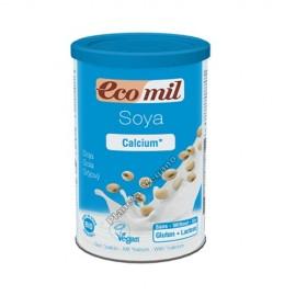 Bebida de soja en polvo, rica en calcio, Bote de 400g. EcoMil