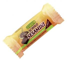 Barritas de Chocolate y Sésamo, 27g. Rapunzel