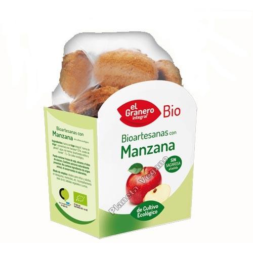 Galletas Bio Artesanas con Manzana, 250g. El Granero