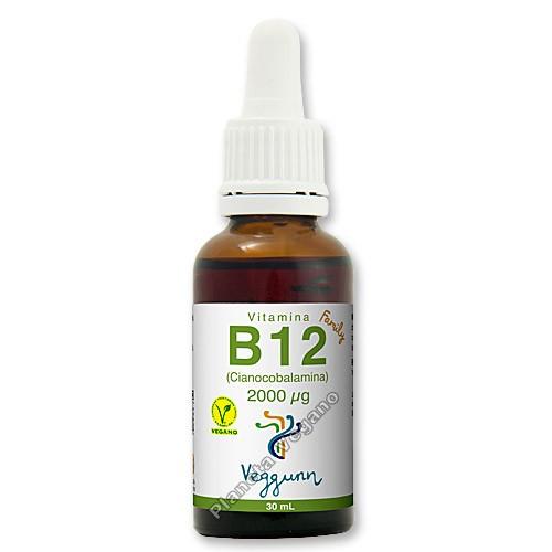 Veggunn Vitamina B12 2000 µg (Cianocobalamina), Veggunn