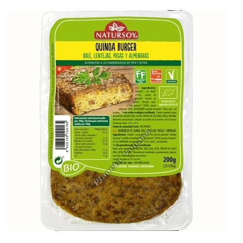 Quinoa Burger, 200g. Natursoy