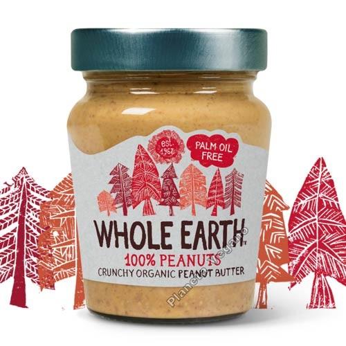 Crema de Cacahuete Crunchy, 227 gr Whole Earth