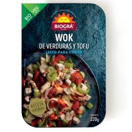Wok de Verduras y Tofú, 220 g. Biográ