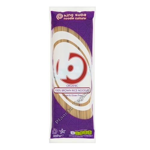 Noodles de Arroz Integral, 250g. King Soba