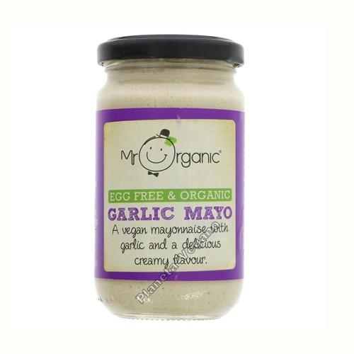 Mayonesa Vegana Ecológica con Ajo, 180g Mr. Organic