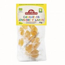 Caramelos de Jengibre y Limón, 75g. Natursoy
