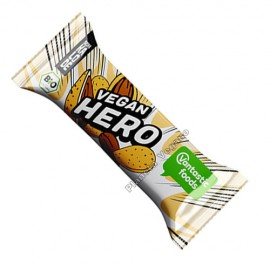 Barrita de Chocolate Blanco con Almendras Vegan Hero, 40g. V.F.