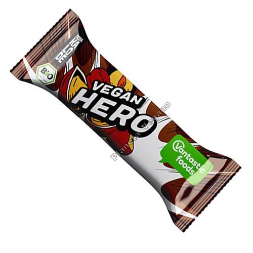 Barrita de Chocolate con Avellanas Vegan Hero, 40g. V.F.