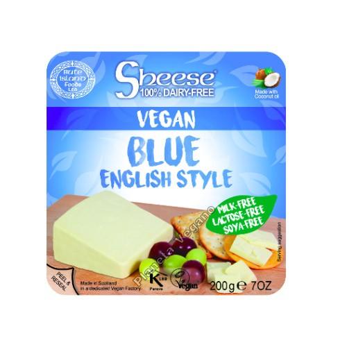 Queso Vegano Sheese estilo azul (English Style), 200g. Bute Island