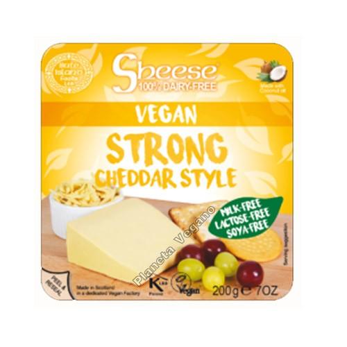 Queso Vegano Sheese Cheddar estilo curado, 200g. Bute Island