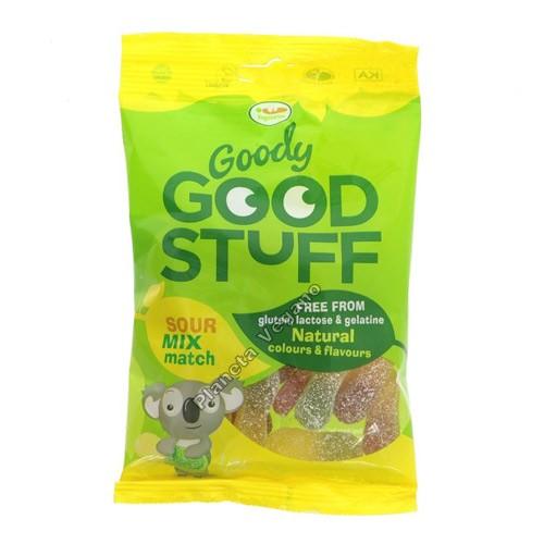 Gomitas vegetales de lenguas ácidas, 150g, Goody Good Stuff
