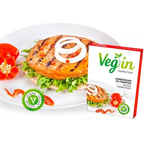 Burger Vegana con Pimientos, 2x80g Vegin