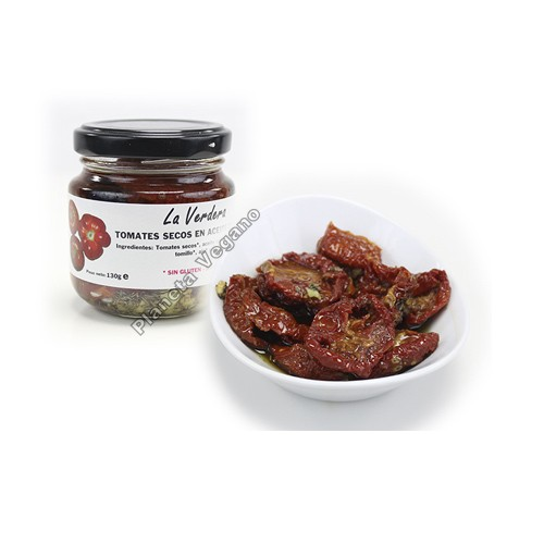 Tomates Secos en Aceite de Oliva Virgen Extra, 130g. La Verdera