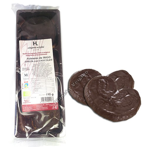 Palmeras de Chocolate con Espelta, 190g. Horno de Leña