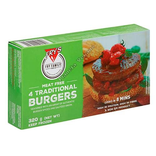 Hamburguesa Vegana Tradicional de Frys Family, 320g