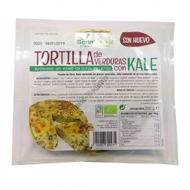 Tortilla de Patatas Vegana con Verduras y Kale, 250g Soria Natural