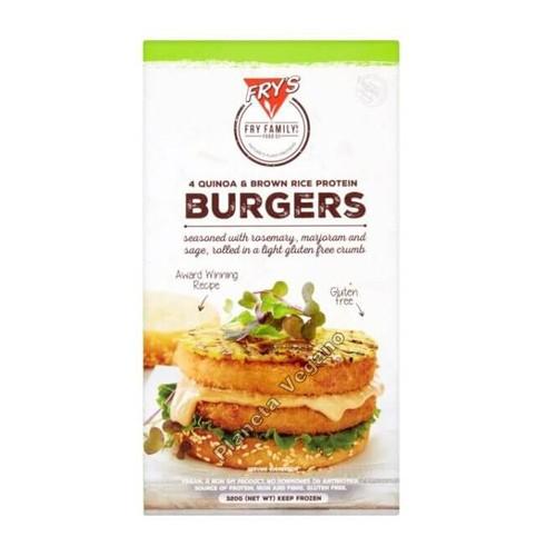 Hamburguesa Vegana de Arroz y Quinoa de Frys Family, 320g