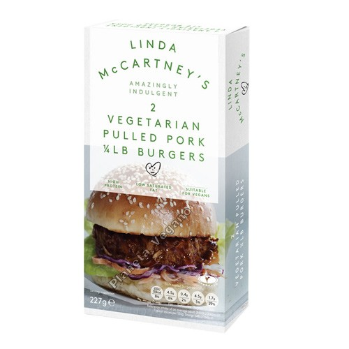 Hamburguesas Cuarto libra Pulled Pork Style Linda McCartney, 227g