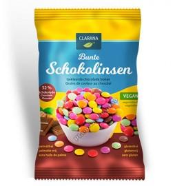Bolitas de Colores Rellenas de Chocolate, 125g Clarana