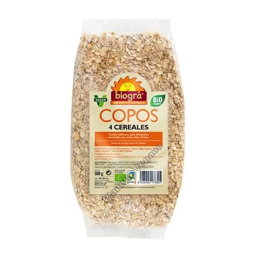 Copos 4 Cereales, 500g Biográ