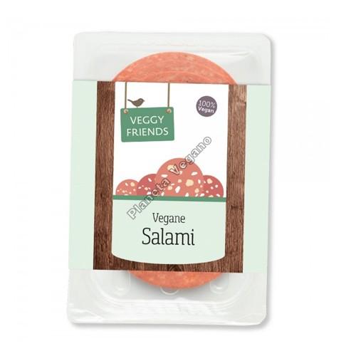 Salami Vegano en lonchas, 80g. Veggy Friends
