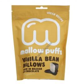 Nubes (Marshmallows) de Vainilla cubiertos de Chocolate Nego, 100g. Mallow Puffs