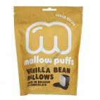 Nubes (Marshmallows) de Vainilla cubiertos de Chocolate Negro, 100g. Mallow Puffs