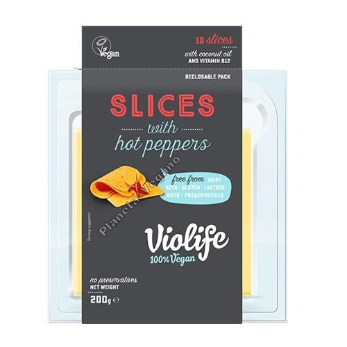 Queso Vegano Violife con Pimientos Picantes en Lonchas, 200g Violife