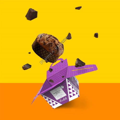 Panettone Vegano con trocitos de Chocolate, 500g. Mindful Bites