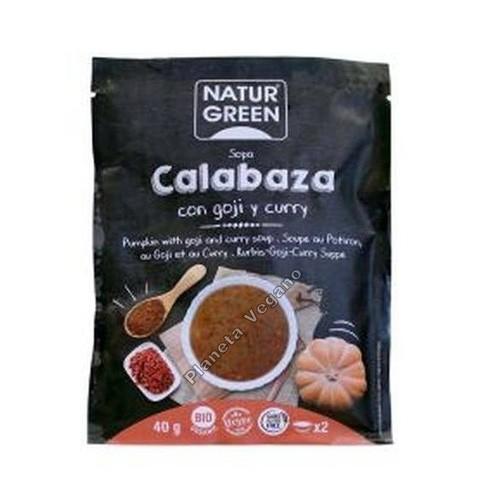 Sopa instantánea de Calabaza con Goji y Curry, 40 g Naturgreen