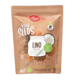 Semillas de Lino Molido, 200 g. El Granero