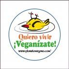 Chapa Quiero Vivir ¡Veganízate!