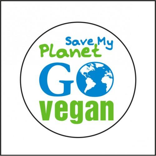 Imán Save My Planet - Go Vegan