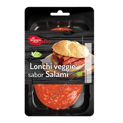 Salami Vegano en lonchas, 100g. El Granero