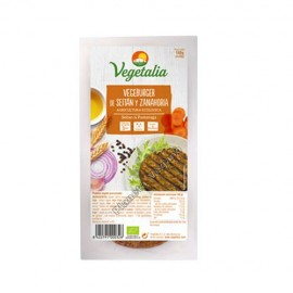 VegeBurger de Seitán y Zanahoria, 160g. Vegetalia
