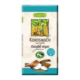 Chocolate de Leche de Coco, 80g. Rapunzel