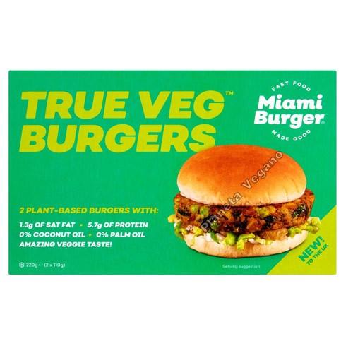 Burger Vegetal (True Veg), 220g. Miami Burger