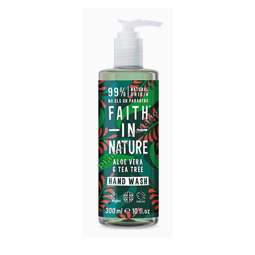 Jabón de Manos de Aloe Vera y Árbol del Té, 300 ml. Faith in Nature